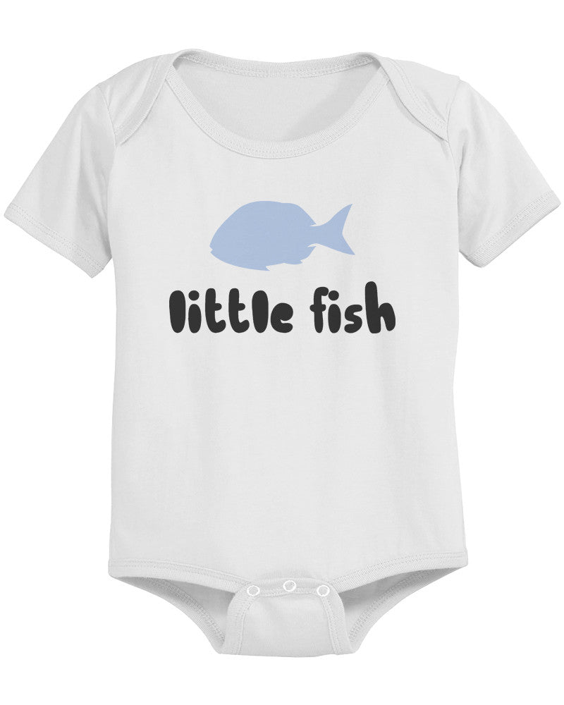 611a6a150 Big Fish and Little Fish Dad and Baby Matching Top Set Parent Shirts ...