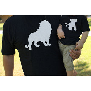 Funny Lion and Cub Matching Dad Shirt and Baby Shirt - 365INLOVE