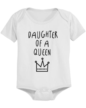 Mother Of Princess Mom, Daughter Of Queen Baby Girl Bodysuit Matching Outfits - 365INLOVE