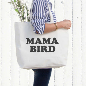 Mama Bird Canvas Bag Grocery Diaper Book Bags Gifts For Mom Mothers Day - 365INLOVE