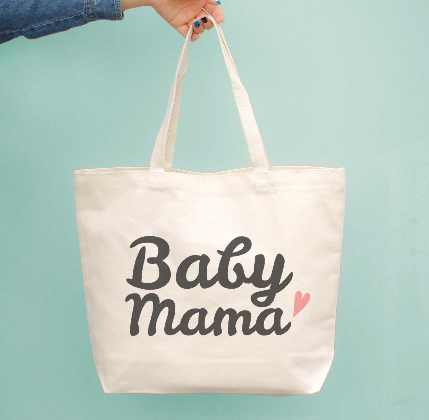 2e20f0e7808 Baby Mama Diaper Canvas Bag Cute Grocery Book Large Bags Gifts For New Moms