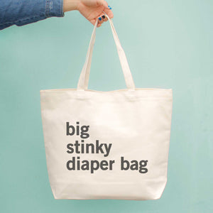 Big Stinky Diaper Bag Baby Shower Or Mother's Day Gift - New Mom Canvas Bag - 365INLOVE