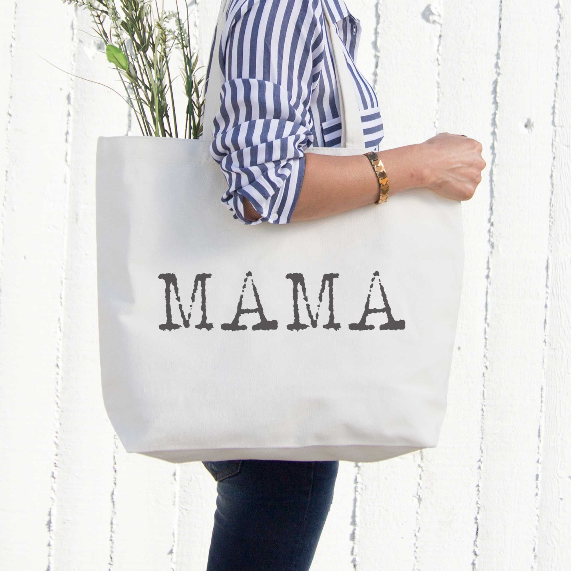 bef78b71e2 Mama Typewriter Canvas Bag Tote Diaper Book Grocery Bag For Mother s Day -  365INLOVE