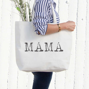 Mama Typewriter Canvas Bag Tote Diaper Book Grocery Bag For Mother's Day - 365INLOVE