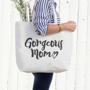 Gorgeous Mom Canvas Bag Mother's Day Gifts Grocery Bag Tote bag For Mom - 365INLOVE