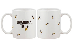 Grandma To Bee Funny Coffee Mug- Design Printed Best Gift For Grandmother - 365INLOVE