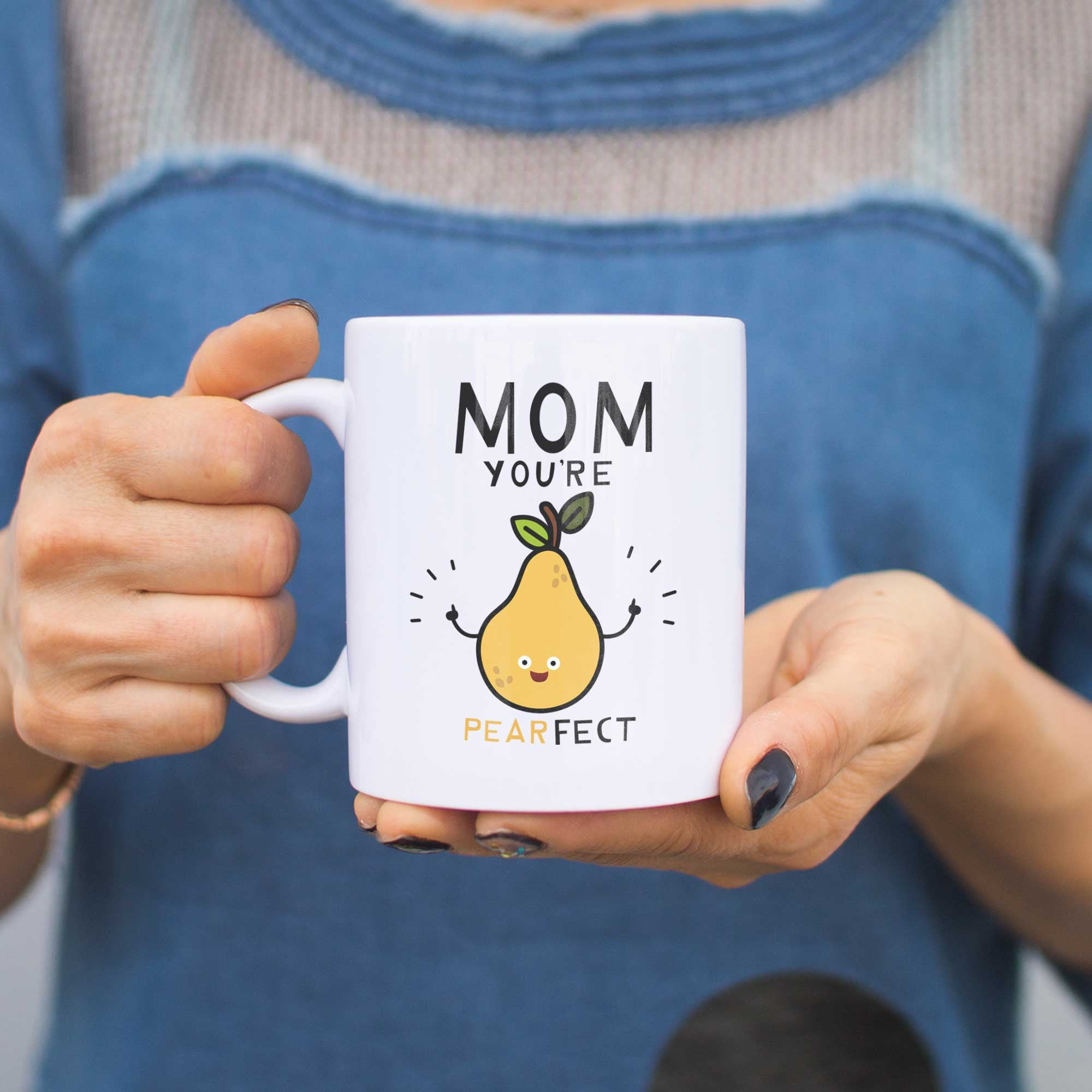 mom youre pearfect cute mug cup gift for mom on mothers day or christmas