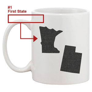 Long Distance Between Father And Daughter Custom State Mug Perfect Gift for Dad - 365INLOVE