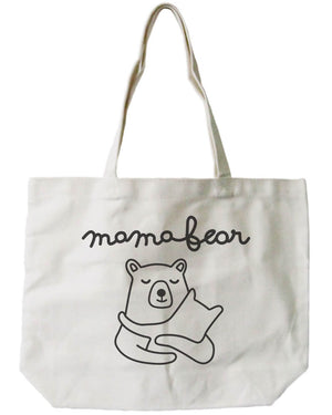 Mamabear Women's 100% Cotton Canvas Tote Bag, Reusable Eco-bag - 365INLOVE