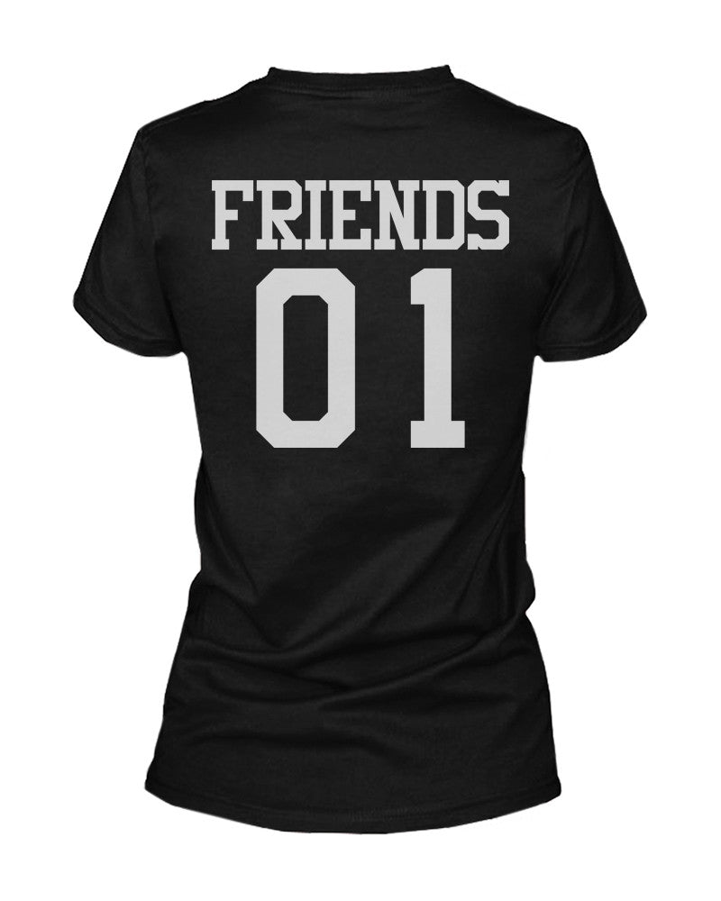 196385103 Best 01 Friend 01 Matching Best Friends T Shirts BFF Tees For Two ...