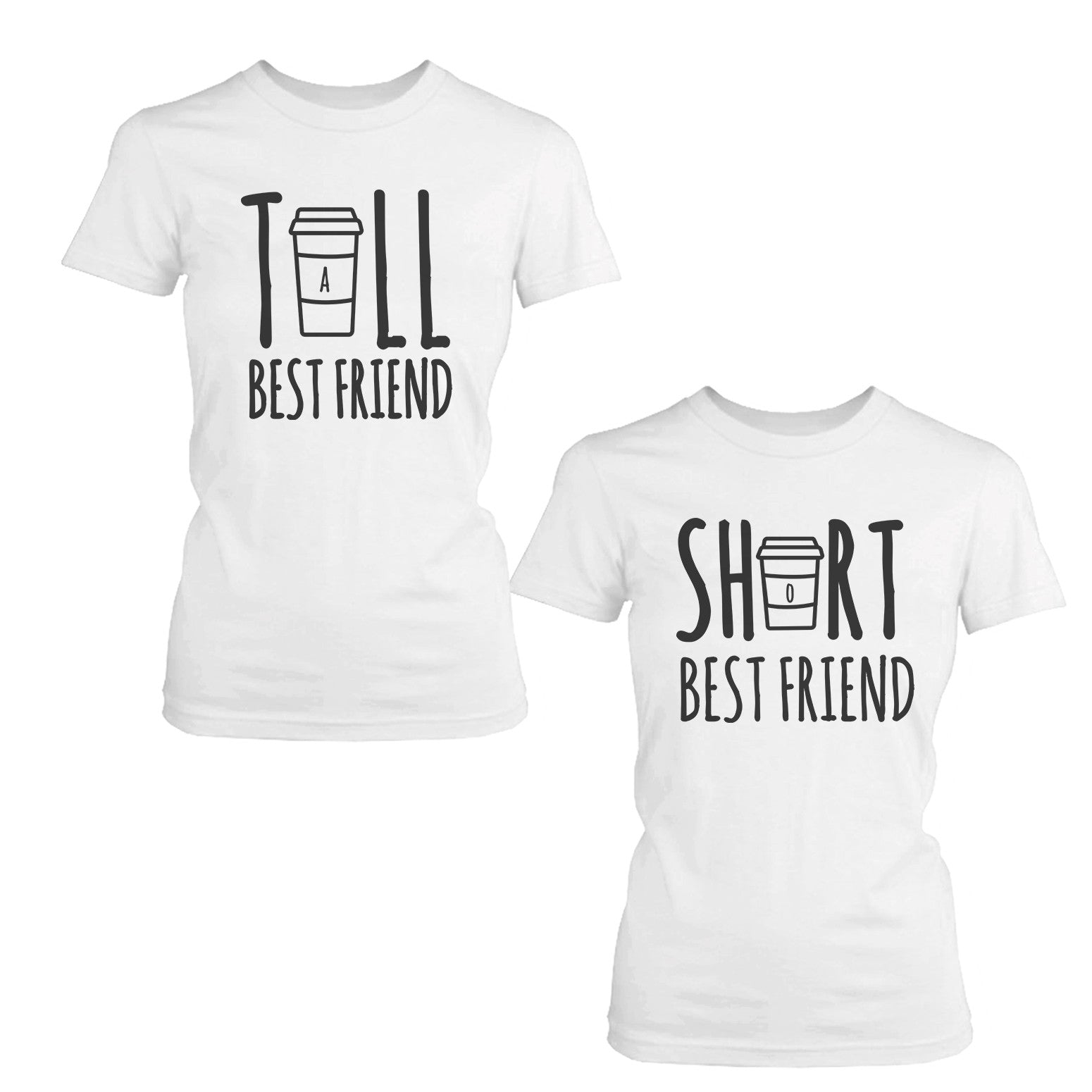 4d1acb4f0 Cute Best Friend Tall and Short Matching TShirt BFF Shirt For Coffee ...
