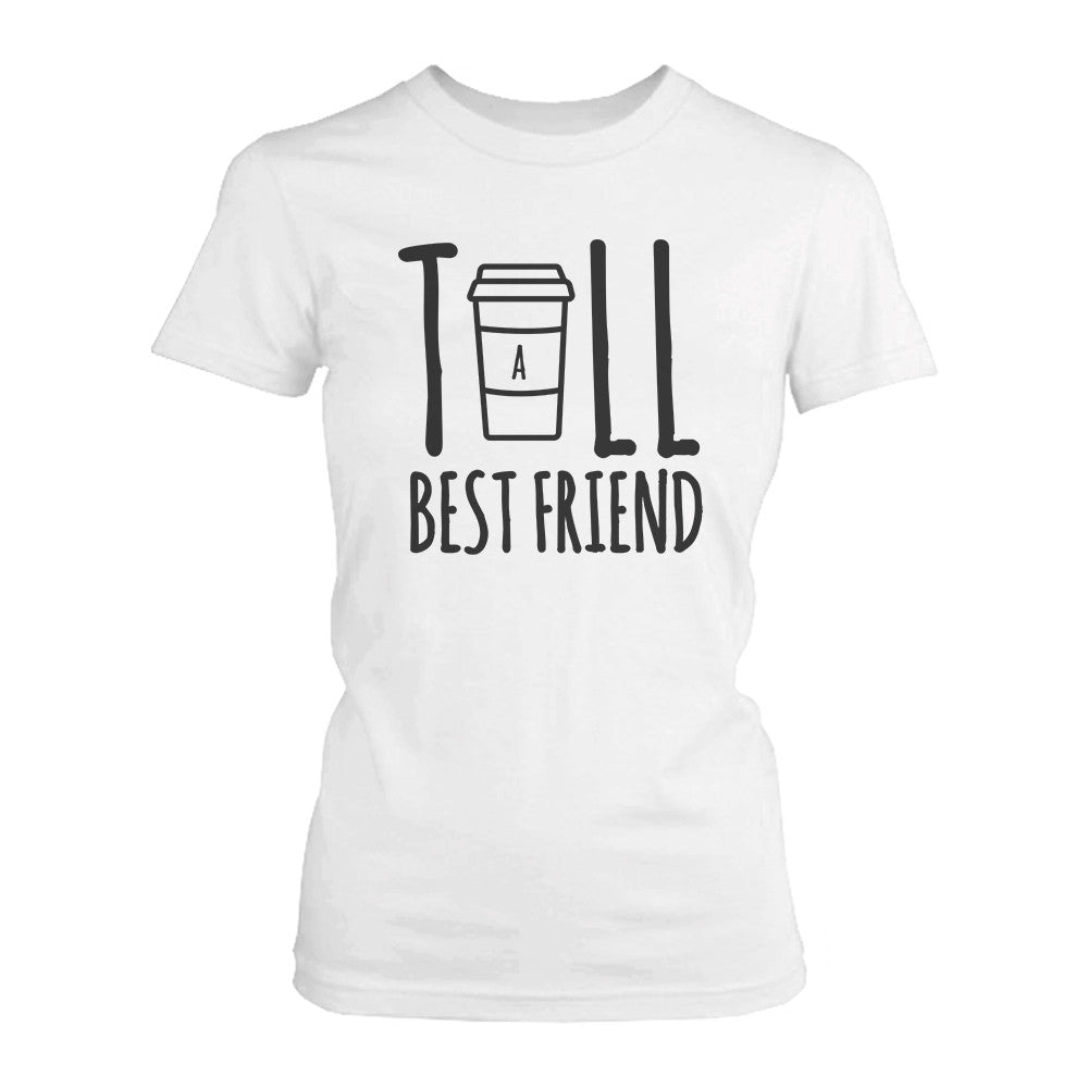 eaa95e15 Cute Best Friend Tall and Short Matching TShirt BFF Shirt For Coffee ...