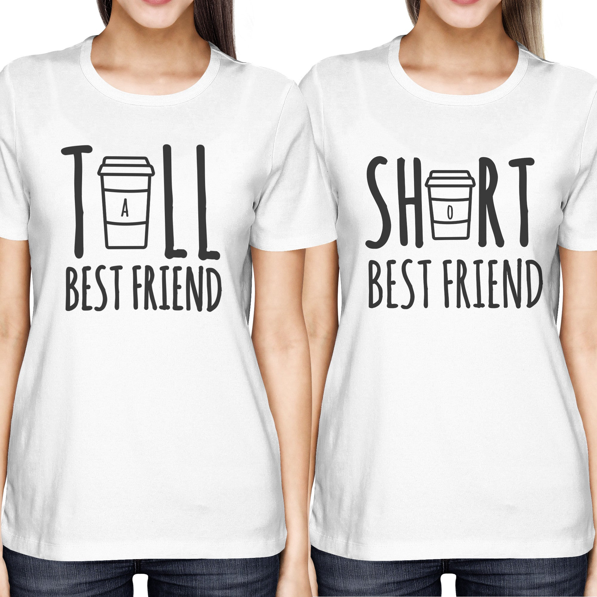 29ea90465 Cute Best Friend Tall and Short Matching TShirt BFF Shirt For Coffee Lovers  - 365INLOVE