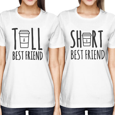 Cute Best Friend Tall and Short Matching TShirt BFF Shirt For Coffee ...