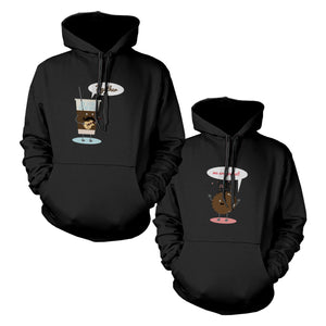 Ice Coffee And Cookie Couple Matching Hoodies
