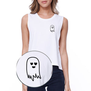 Cute Pocket Ghost Crop Tee