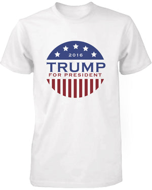 Trump Donald For President 2016 Campaign Men's Tshirt White Short Sleeve Shirts - 365INLOVE