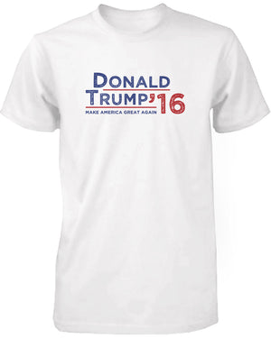 Donald Trump 2016 Make American Great Again Campaign Men's Tshirt White Tees - 365INLOVE