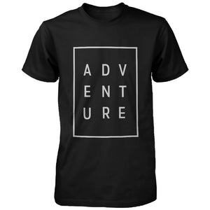 Adventure Men's T-shirt Trendy Typographic Tee Cute Short sleeve Shirt - 365INLOVE