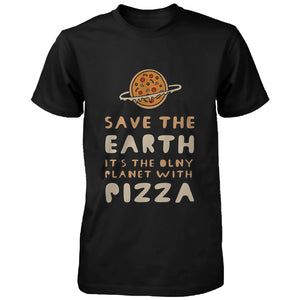 Save the Earth Only Planet with Pizza Funny Men's Shirt Earth Day T-Shirt - 365INLOVE