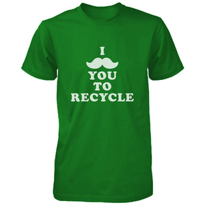 I Mustache You To Recycle Shirt Unisex Earth Day T-shirt Funny Graphic Tee - 365INLOVE
