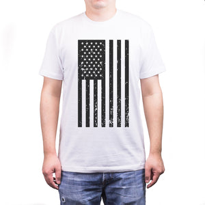 Men's Vintage American Flag Fourth of July T-shirt