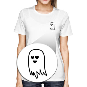 Cute Pocket Ghost Women's T-shirt