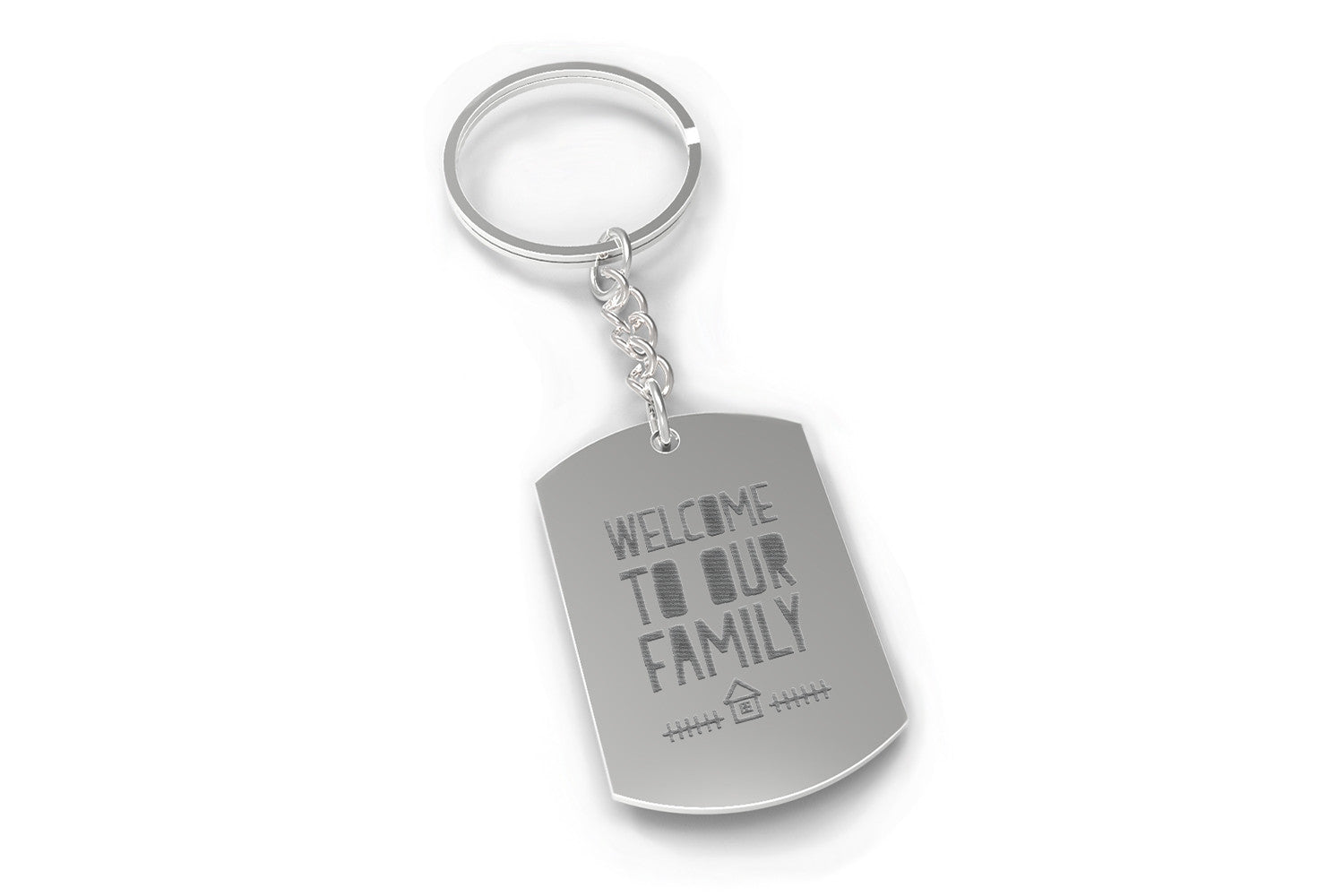 Welcome To Our Family Key Chain For Daughter In Law Or Son In Law