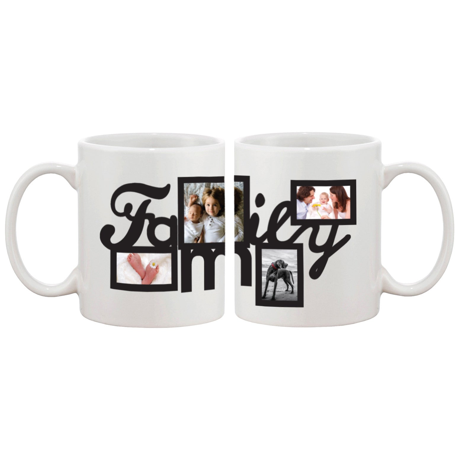 80bb0fdc4a8 Personalized Coffee Mug For your Own Four Pictures Best Gift ideas for  Family Custom Mug