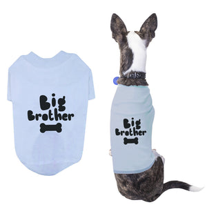 Big Brother Pet T-shirts Cute Dog Apparel Puppy Cloth Funny Sky Blue Dog Tees - 365INLOVE