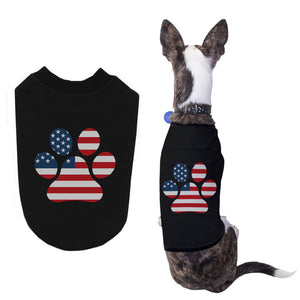 Red White Blue Paw Shirts for Small Dog