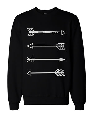 Tribal Arrows Graphic Sweatshirts - Unisex Black Sweatshirt - 365INLOVE