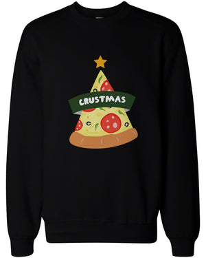 Crustmas Funny Christmas Sweatshirts Holidays Gift Idea For Pizza Lover - 365INLOVE