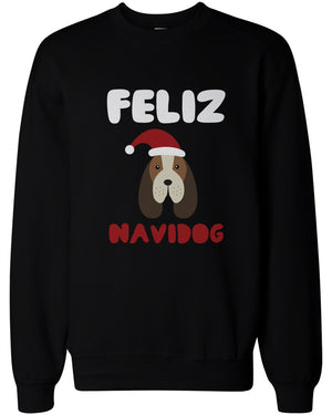 Feliz Navidog Christmas Sweatshirts Funny Beagle Holiday Pullover Fleece Sweaters - 365INLOVE