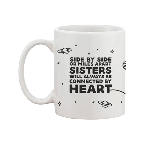 Sisters Always Connected By Heart Long Distance Mug