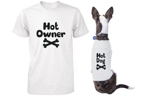 Hot Owner and Hot Dog Matching Tee for Pet and Owner Puppy and Human Apparel - 365INLOVE