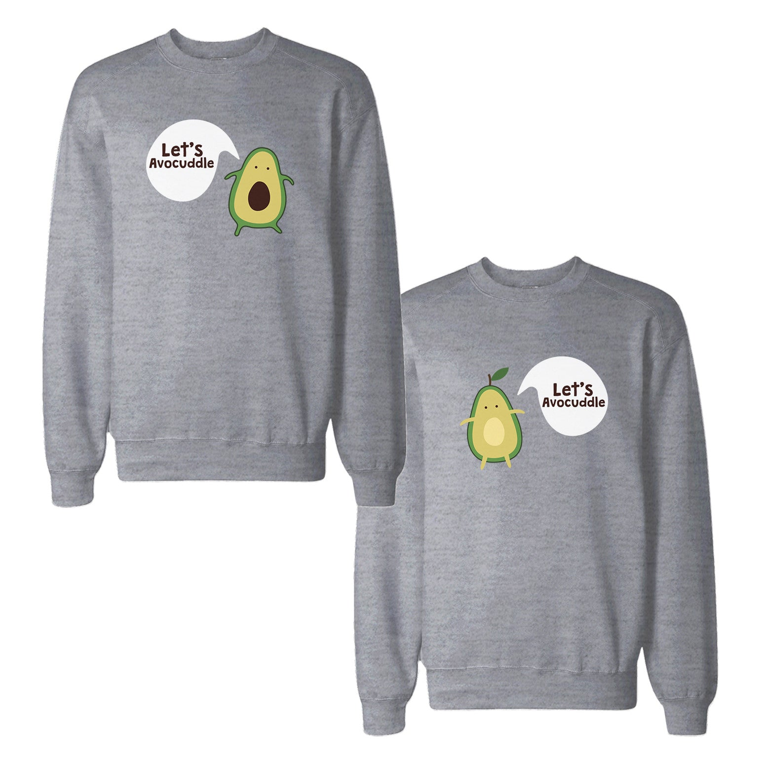 4093414571 Let's Avocuddle Couple Sweatshirts Cute Matching Gifts For Christmas ...