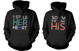stealing hearts romantic hoodies for couples