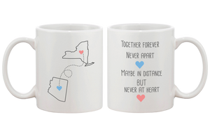 together forever long distance relationship mug cup