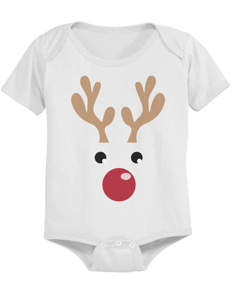 Rudolph Baby Christmas White Bodysuit Great Gift Idea for Holidays ...