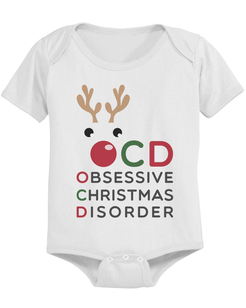 OCD Funny Christmas Baby Bodysuit Cute Infant Bodysuit Outfit - 365 ...