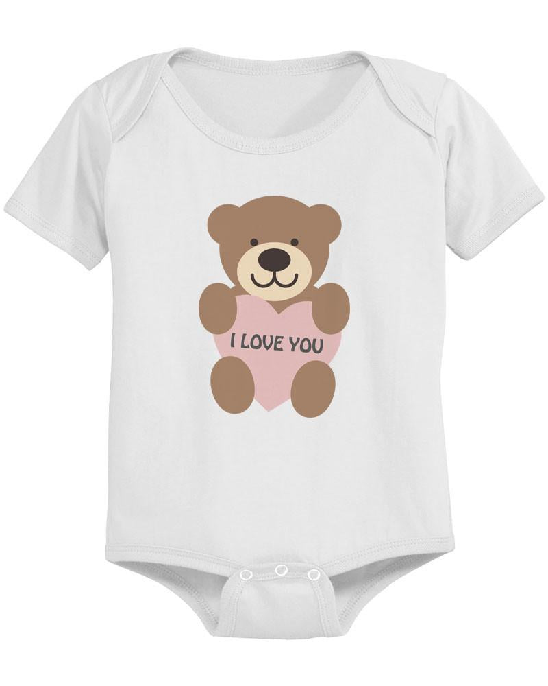I Love You Baby Bear Cute Infant Bodysuit Great Gift Idea for ...