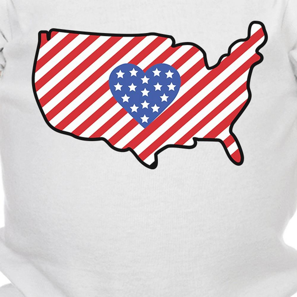 Usa Map Cute 4th Of July Decorative Cute Baby Bodysuit New Mom Gifts - Cute-us-map