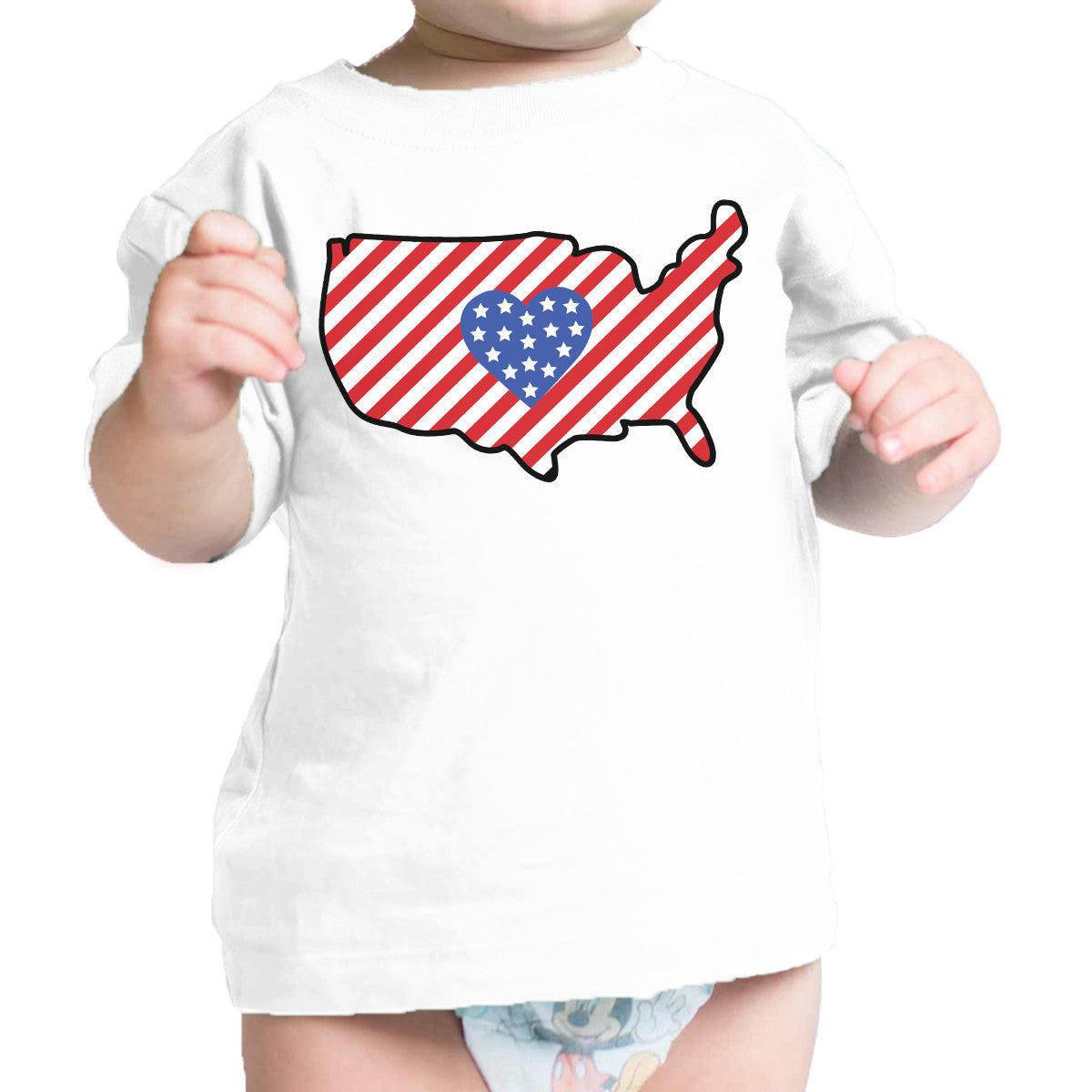 Cute Usa Map.Usa Map Cute 4th Of July Decorative Cute Baby T Shirt New Mom Gifts