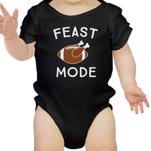 Feast Mode Baby Black Bodysuit