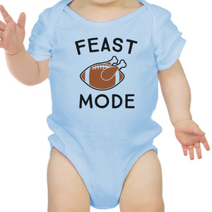 Feast Mode Baby Sky Blue Bodysuit