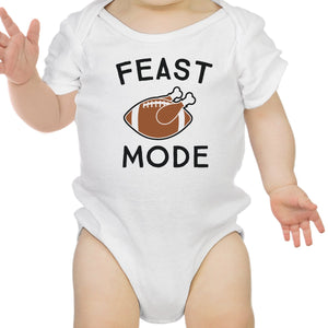 Feast Mode Baby White Bodysuit
