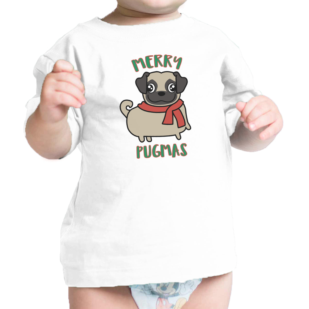 3fa01ee2 Merry Pugmas Pug Baby White Shirt - 365 IN LOVE - Matching Gifts Ideas