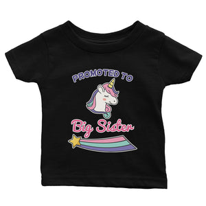 Promoted To Big Sister Baby Gift Tee Shirt For Baby Announcement
