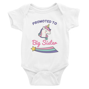 Promoted To Big Sister Baby Bodysuit Gift For Baby Announcement